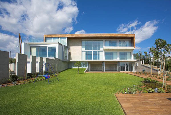 Adamos Residence 19 Airy Residence in Cyprus Combining Wood and Glass on a White Background