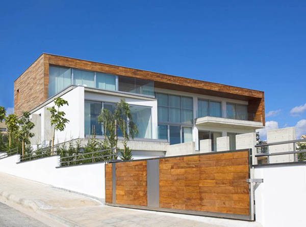 Adamos Residence Airy Residence in Cyprus Combining Wood and Glass on a White Background