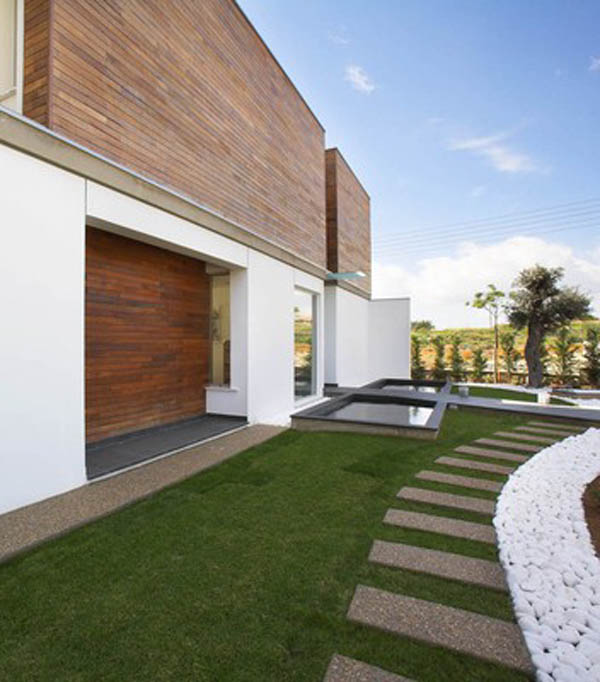 Adamos Residence 14 Airy Residence in Cyprus Combining Wood and Glass on a White Background