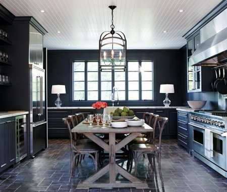 1000 images about in the big blue sea on pinterest navy for Dark walls in kitchen