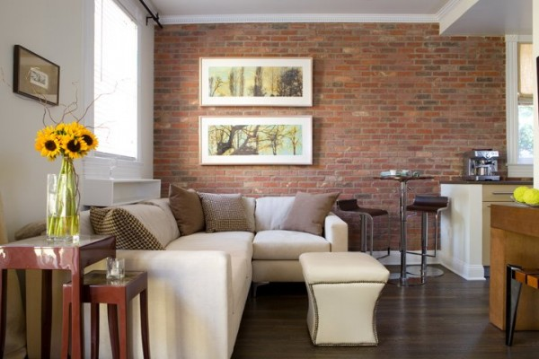 brick backdrop e1293746558705 How to Change the Look of your Interiors with Brick