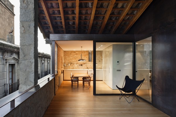 Veranda and kitchen Breathtaking Medieval Building Turned Into Contemporary Living Space