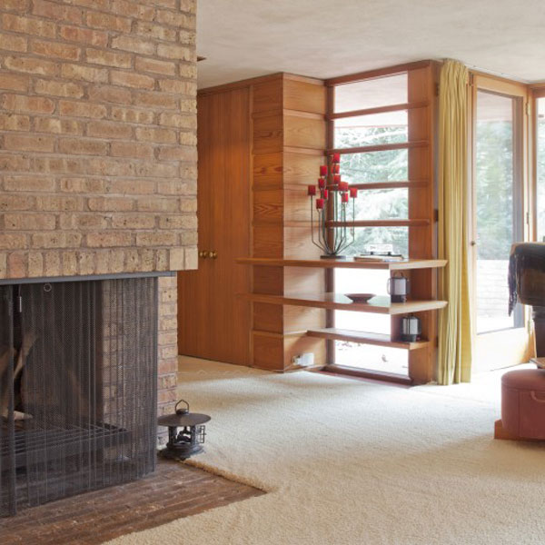 Frank Lloyd 4 Frank Lloyd Wrights Kenneth Laurent House in Illinois Up For Auction
