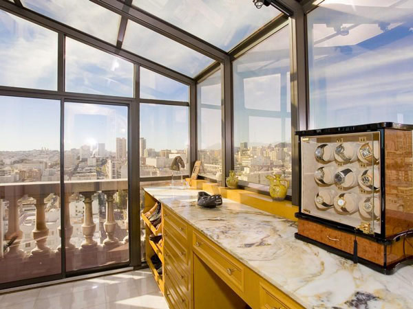 San Francisco Penthouse 12  Striking Art Deco Penthouse With Views of Downtown San Francisco