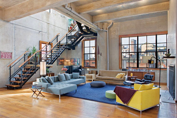 Unique loft design in new york loftenberg for Loft apartment interior design
