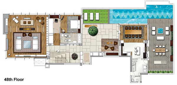 House of the Tree 17 Glazed Double Height Penthouse Overlooking The Urban Jungle