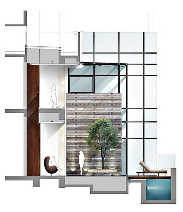 House of the Tree 19 Glazed Double Height Penthouse Overlooking The Urban Jungle