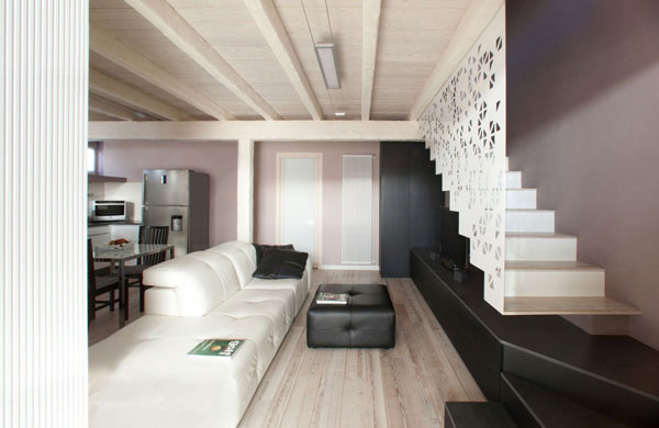 Casa LD by Ego Vitamina Creativa 82 Garage Turned Into An Airy Urban Residence On Two Floors
