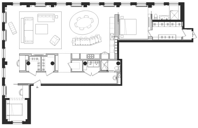 minimalist greenwich village loft plan Minimalist Greenwich Village Loft