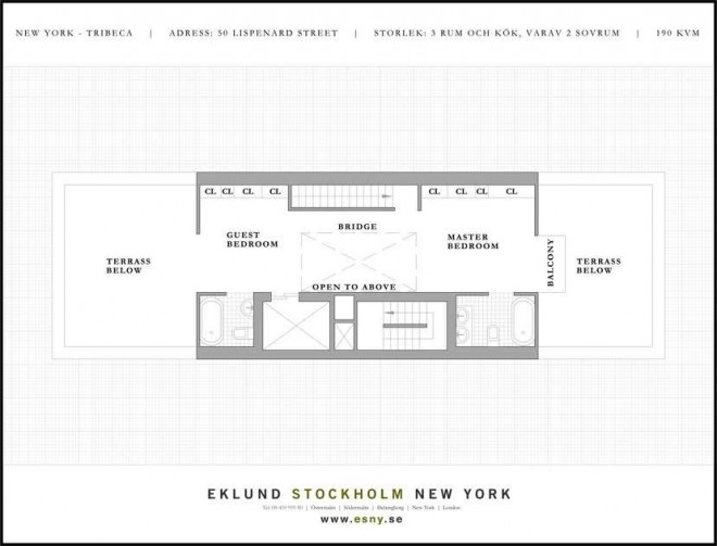 floor plan new york loft 2 660x503 Chic Loft in New York